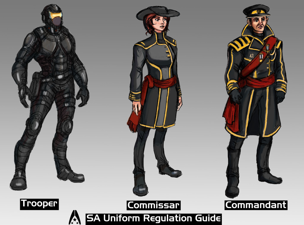 2014 - Character Design Set - Systems Alliance Uniform Guide 2