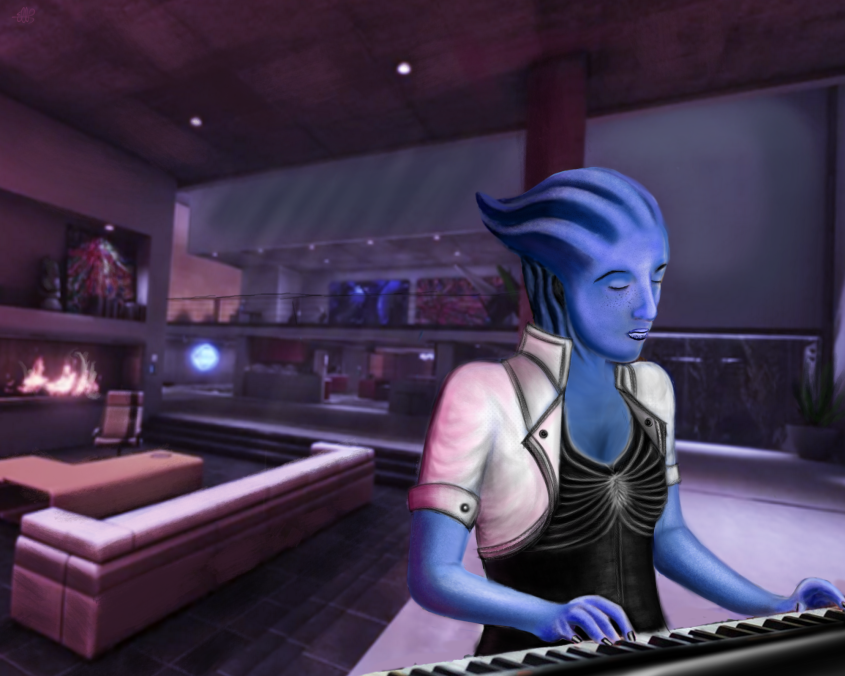 Liara at Piano by The Wele